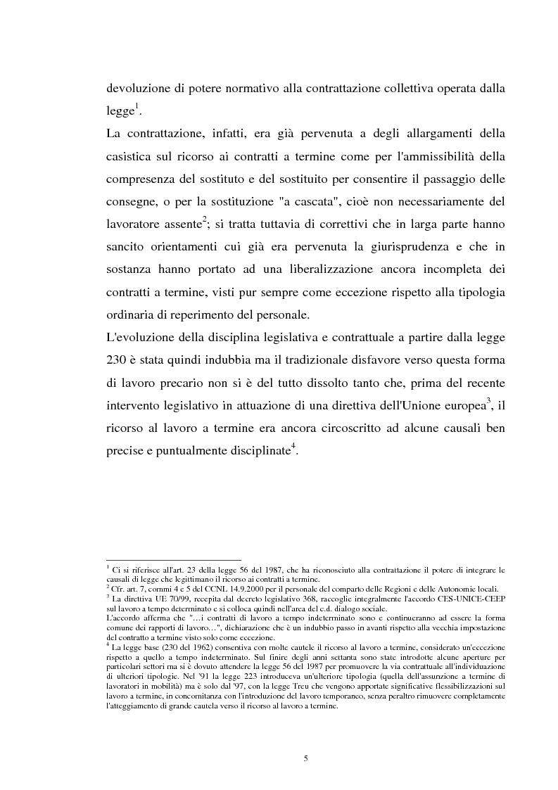 Anteprima della tesi: Il contratto a termine nel pubblico impiego, Pagina 3