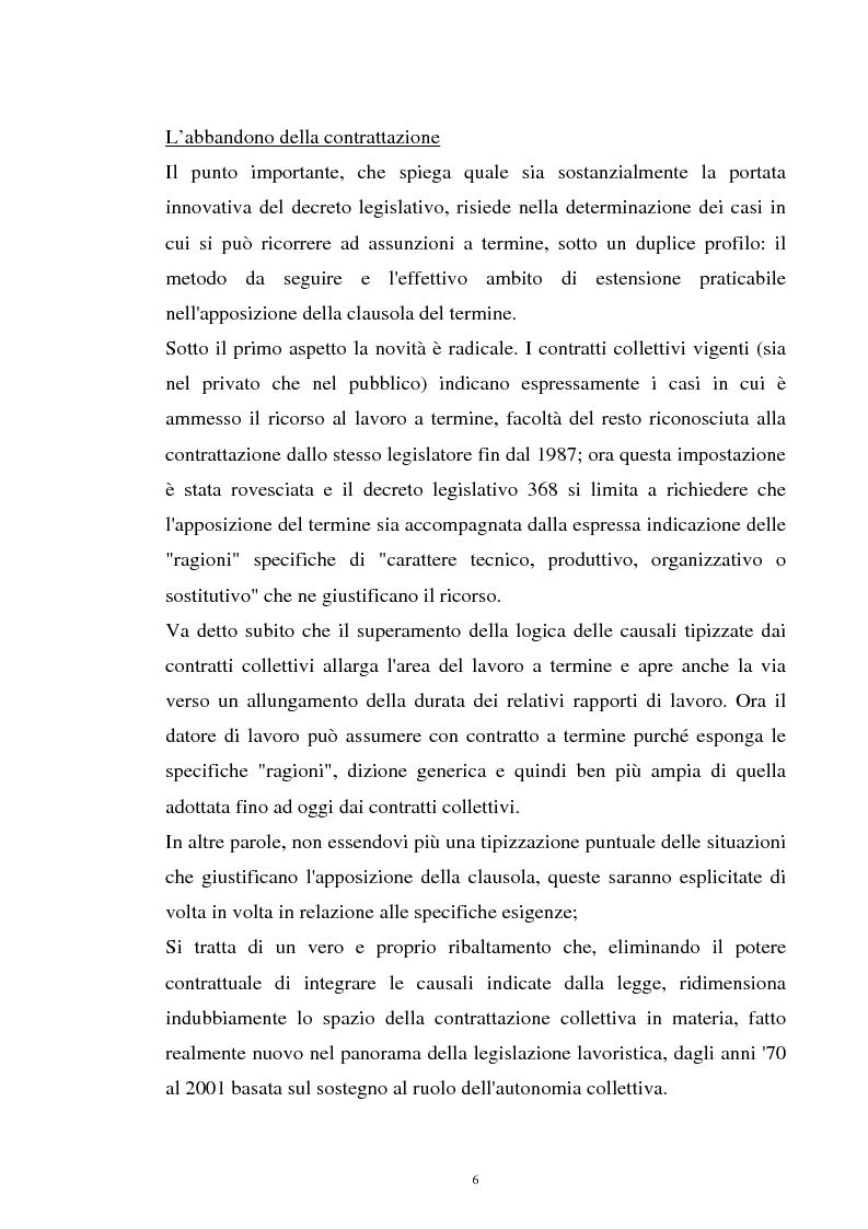 Anteprima della tesi: Il contratto a termine nel pubblico impiego, Pagina 4