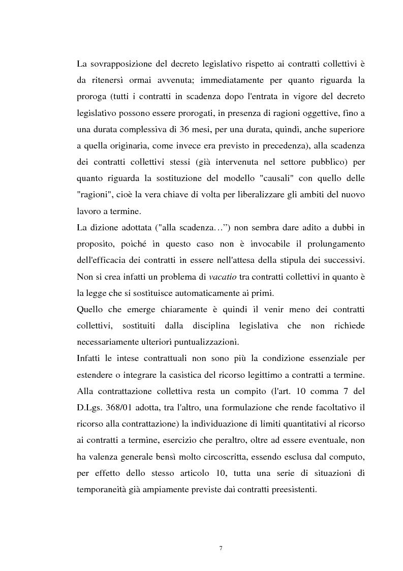 Anteprima della tesi: Il contratto a termine nel pubblico impiego, Pagina 5