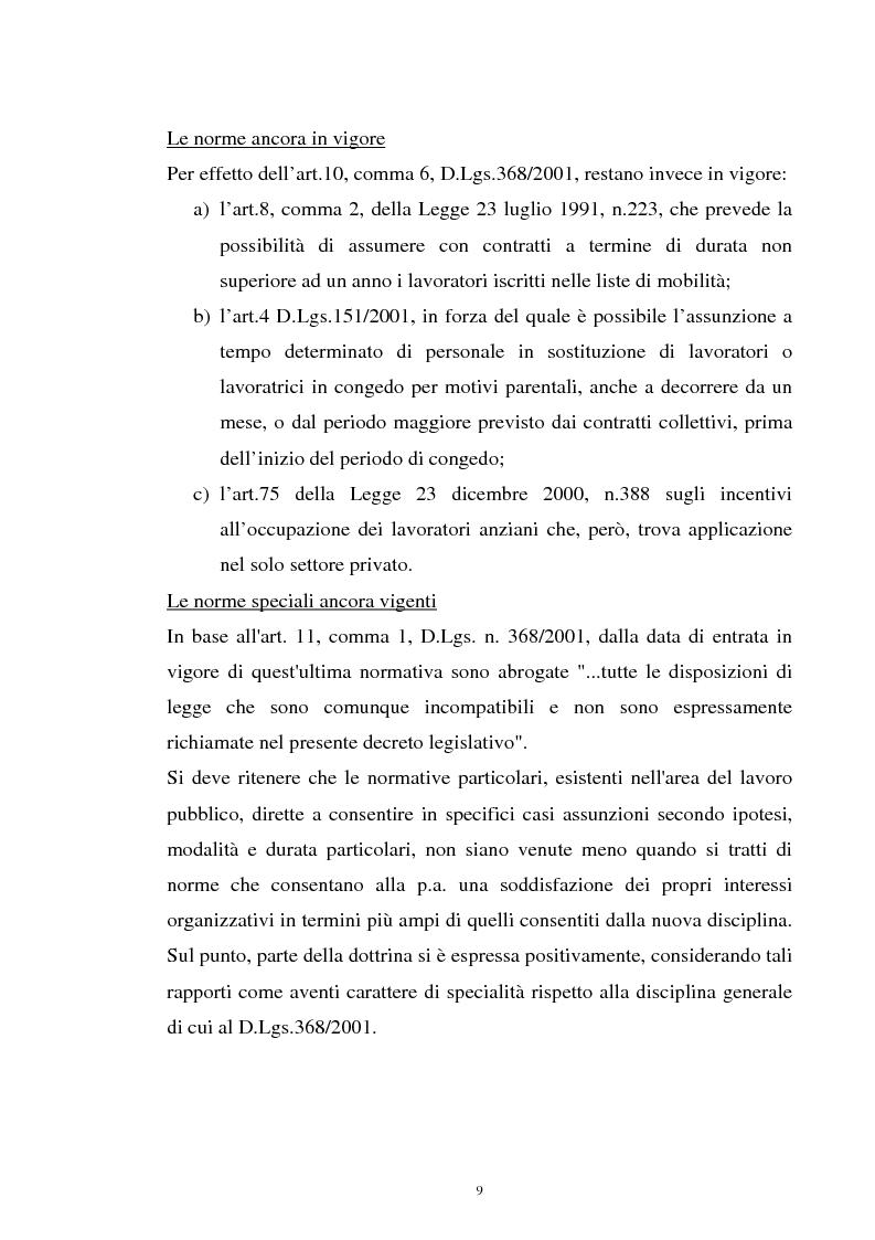 Anteprima della tesi: Il contratto a termine nel pubblico impiego, Pagina 7