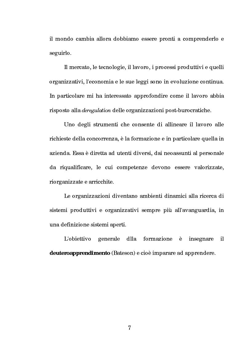 Anteprima della tesi: La progettazione e la comunicazione formativa nelle imprese - il caso Consiel-Alenia Marconi System -, Pagina 2