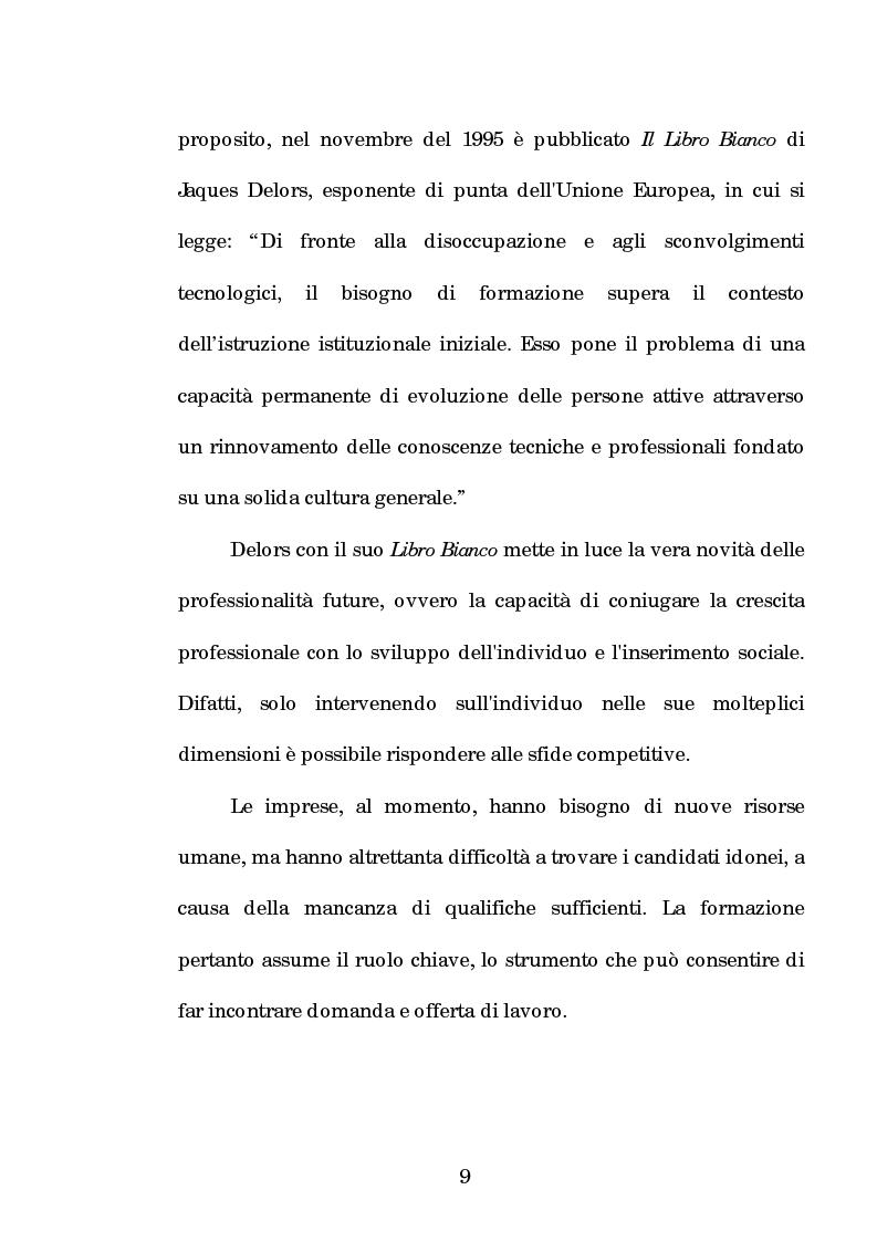 Anteprima della tesi: La progettazione e la comunicazione formativa nelle imprese - il caso Consiel-Alenia Marconi System -, Pagina 4
