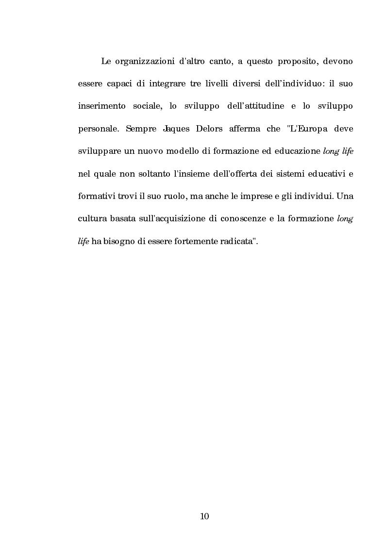 Anteprima della tesi: La progettazione e la comunicazione formativa nelle imprese - il caso Consiel-Alenia Marconi System -, Pagina 5