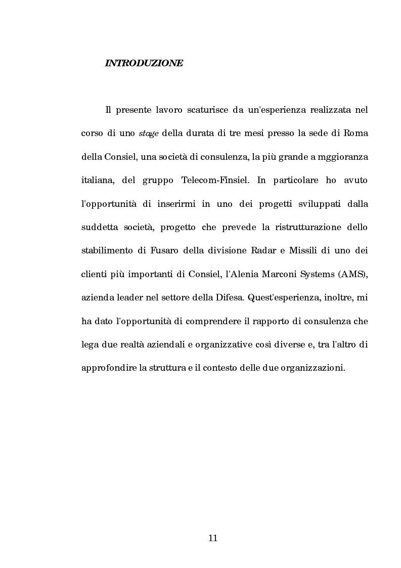 Anteprima della tesi: La progettazione e la comunicazione formativa nelle imprese - il caso Consiel-Alenia Marconi System -, Pagina 6