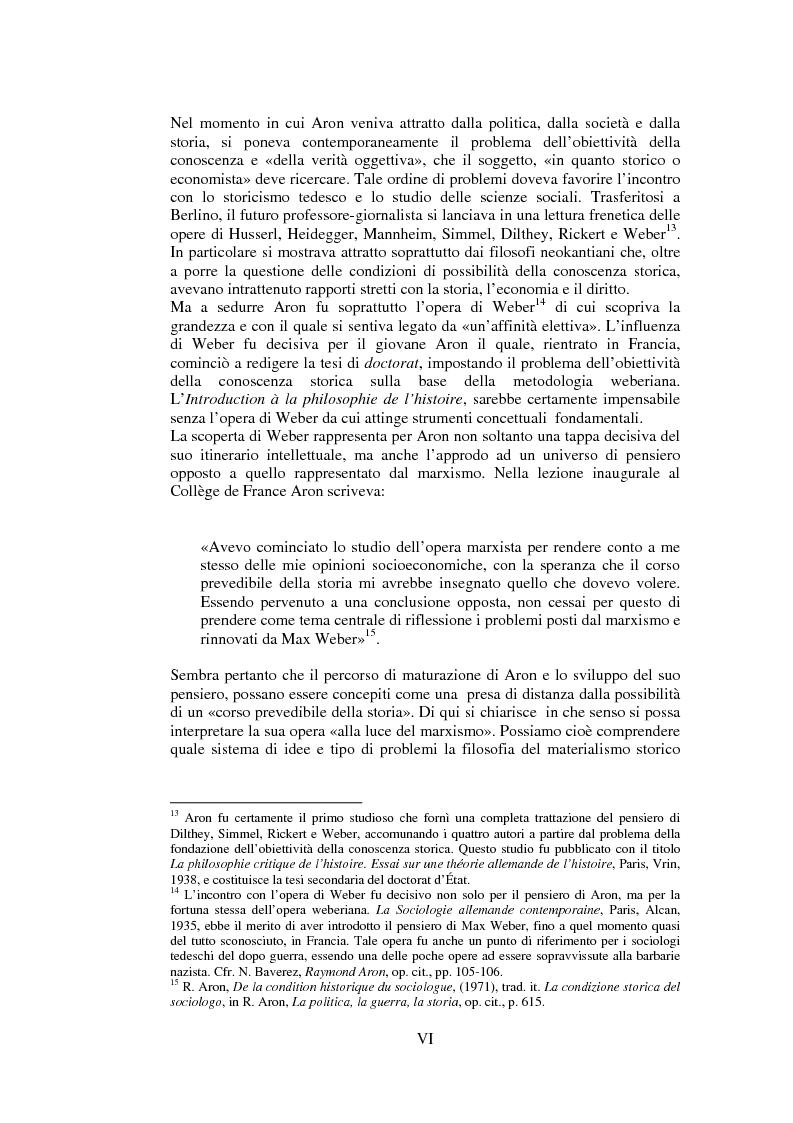 Anteprima della tesi: Filosofie della storia e filosofia critica della storia nel pensiero di Raymond Aron, Pagina 5