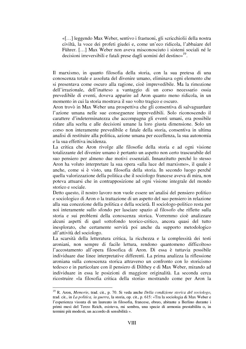 Anteprima della tesi: Filosofie della storia e filosofia critica della storia nel pensiero di Raymond Aron, Pagina 7