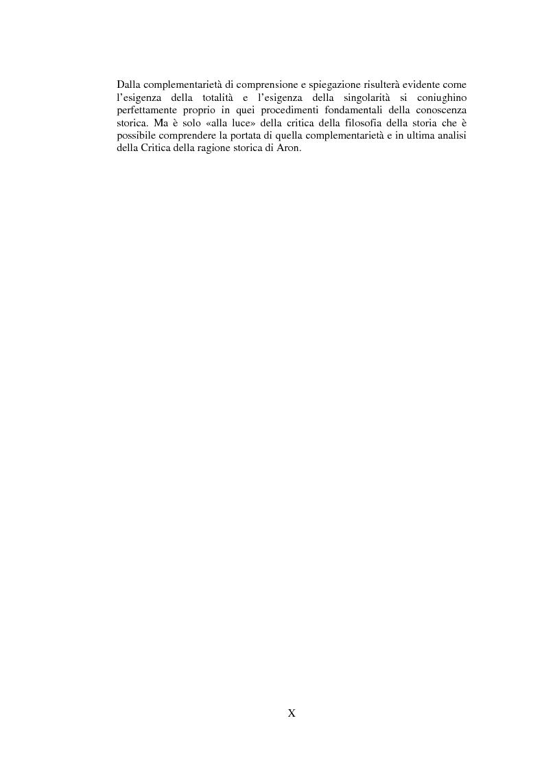 Anteprima della tesi: Filosofie della storia e filosofia critica della storia nel pensiero di Raymond Aron, Pagina 9