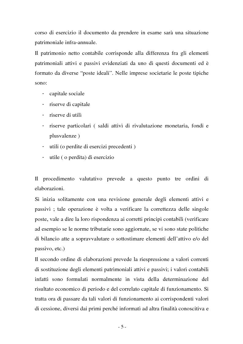 Anteprima della tesi: Valutazione di cessione di agenzie di viaggio: un caso, Pagina 5