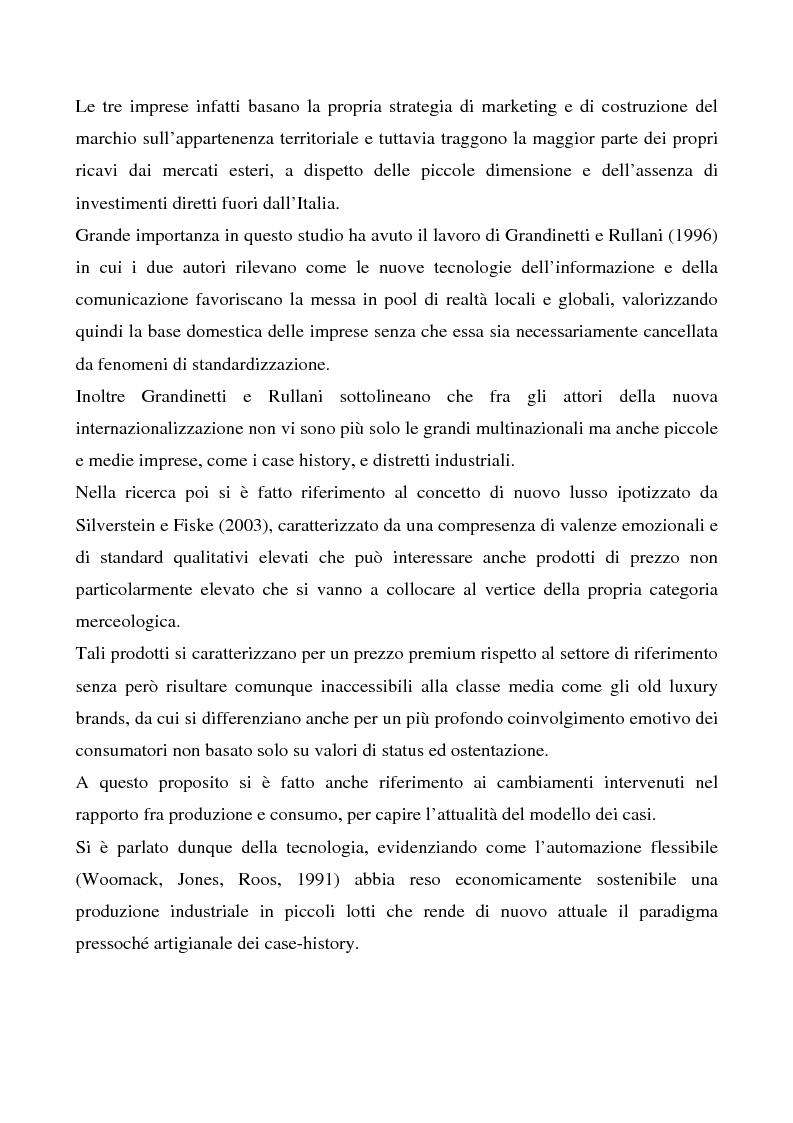 Anteprima della tesi: La valorizzazione del territorio come strategia competitiva nel mercato globale del lusso. I casi Artigiana Sartoria Veneta, Salviati e Cipriani Industria, Pagina 2