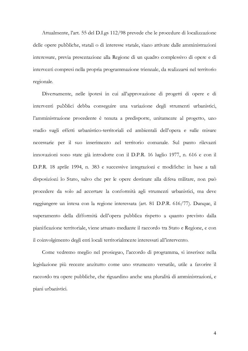 Anteprima della tesi: L'accordo di programma come strumento di realizzazione di Opere Pubbliche, Pagina 2