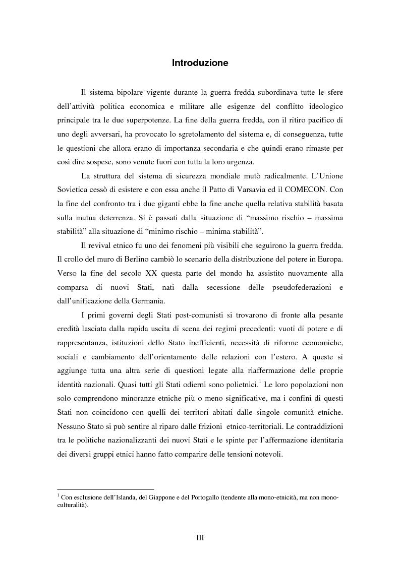 Anteprima della tesi: Macropolitiche per la gestione della diversità etnica. il caso dei Rom nella Repubblica Ceca., Pagina 1