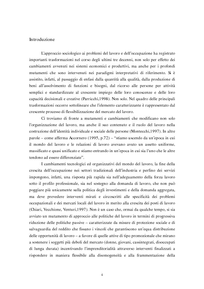 Anteprima della tesi: La flessibilizzazione del mercato del lavoro. Il lavoro interinale., Pagina 1