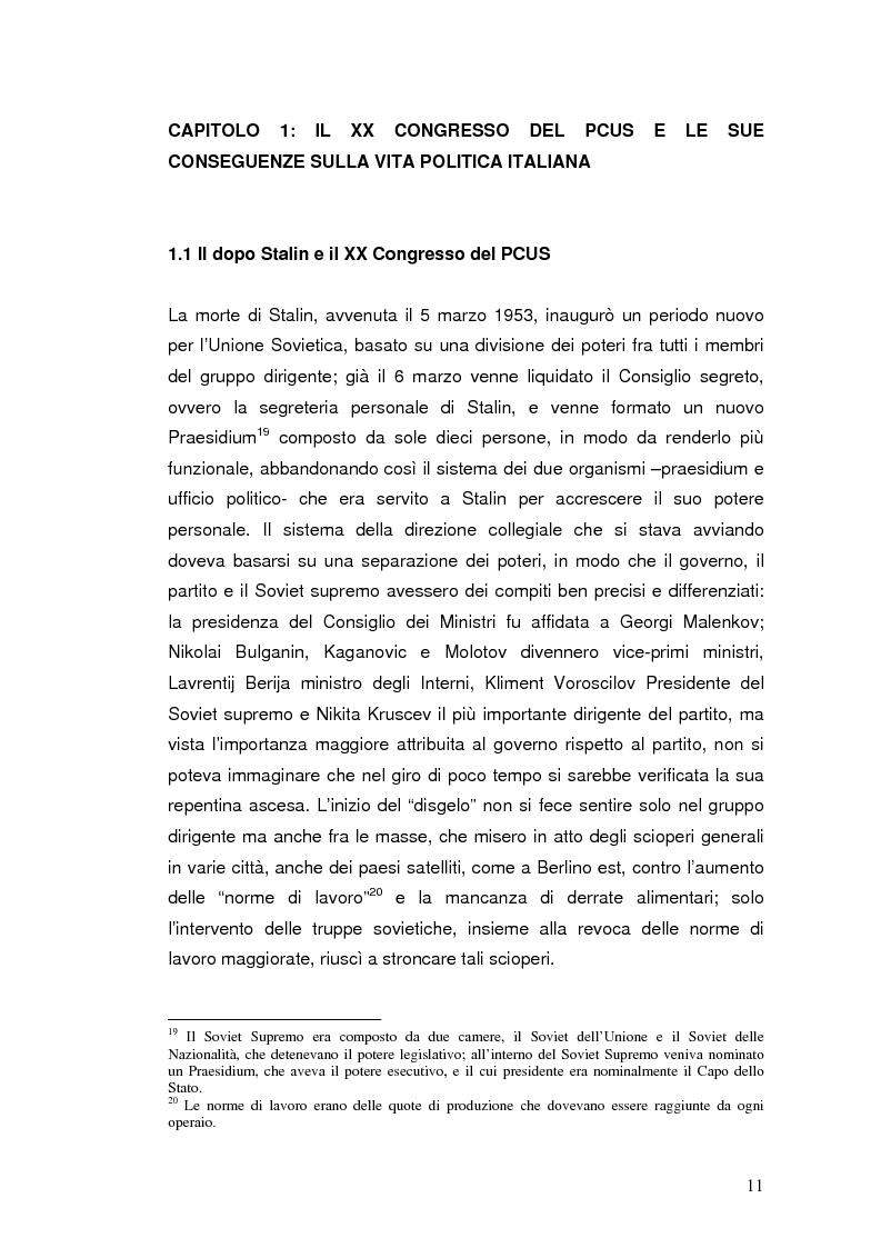 """Anteprima della tesi: Destalinizzazione e autonomia socialista nelle pagine de """"L'Espresso"""" (1956-1958), Pagina 11"""