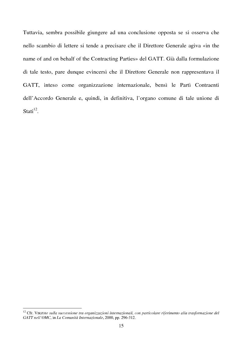 Anteprima della tesi: La partecipazione della CE all'organizzazione mondiale del commercio e i limiti della sua competenza in materia di politica commerciale comune, Pagina 15