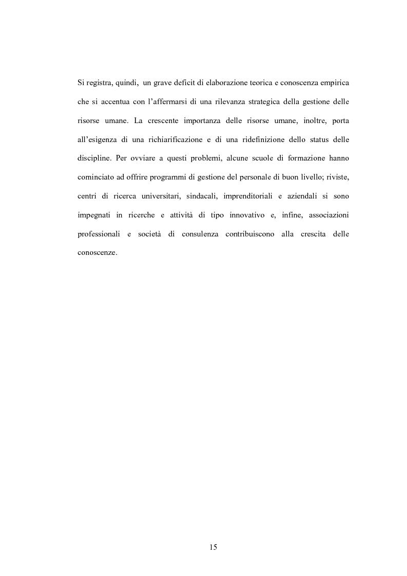 Anteprima della tesi: Le nuove metodologie di reclutamento e selezione del personale. Il caso Jobpilot, Pagina 11