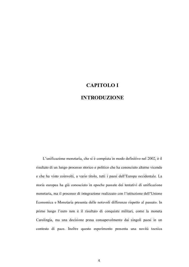 Anteprima della tesi: Struttura finanziaria e meccanismo di trasmissione della politica monetaria, Pagina 1