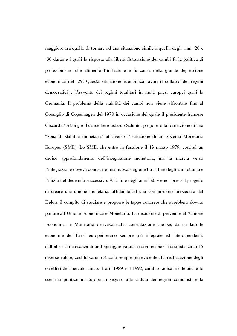 Anteprima della tesi: Struttura finanziaria e meccanismo di trasmissione della politica monetaria, Pagina 3