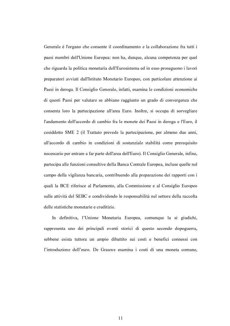 Anteprima della tesi: Struttura finanziaria e meccanismo di trasmissione della politica monetaria, Pagina 8