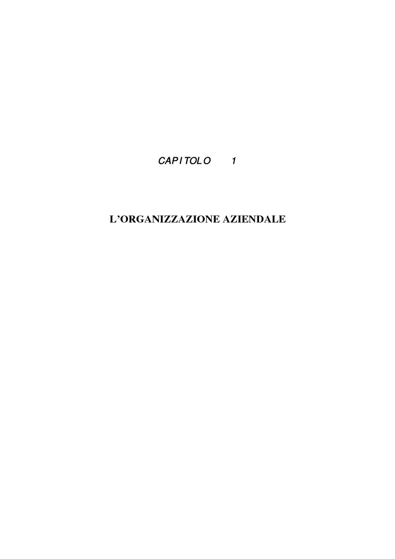 Anteprima della tesi: Aspetti organizzativi e gestionali di un'azienda di produzione di materassi, Pagina 4