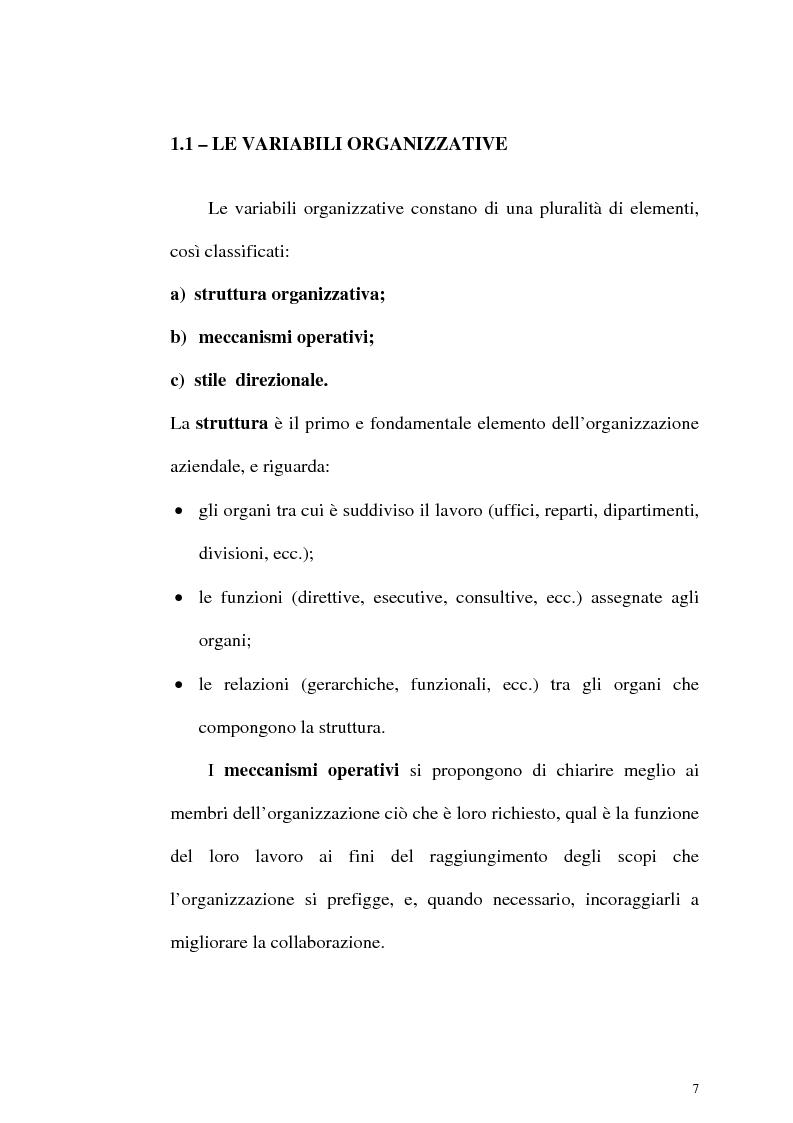 Anteprima della tesi: Aspetti organizzativi e gestionali di un'azienda di produzione di materassi, Pagina 7