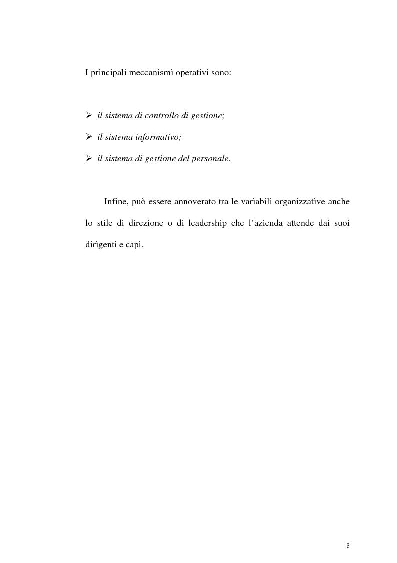 Anteprima della tesi: Aspetti organizzativi e gestionali di un'azienda di produzione di materassi, Pagina 8
