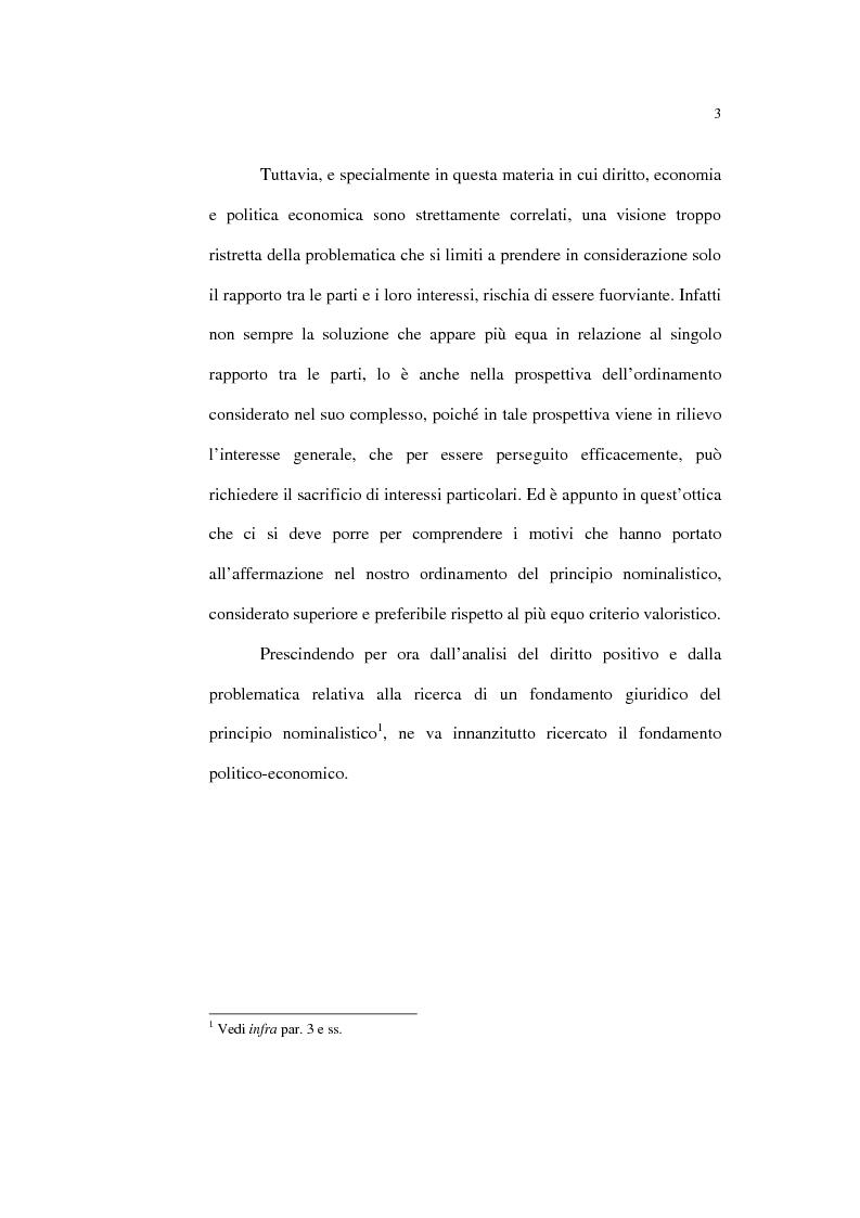 Anteprima della tesi: Il principio nominalistico nelle obbligazioni pecuniarie, Pagina 3