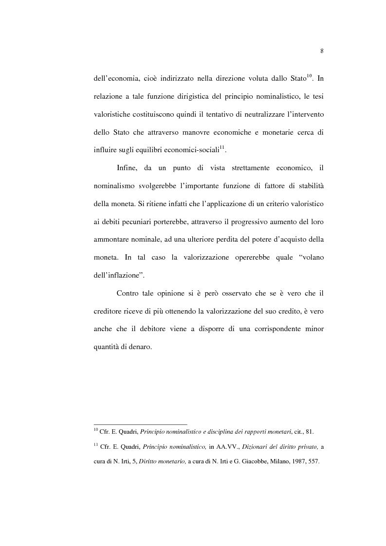 Anteprima della tesi: Il principio nominalistico nelle obbligazioni pecuniarie, Pagina 8