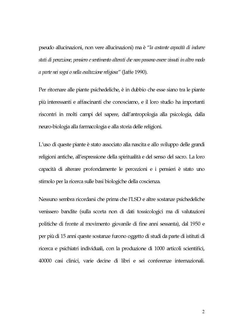 Anteprima della tesi: La carne degli dei (considerazioni sui funghi allucinogeni), Pagina 2
