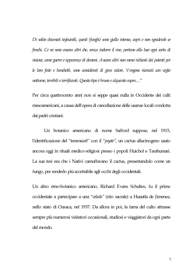 Anteprima della tesi: La carne degli dei (considerazioni sui funghi allucinogeni), Pagina 7