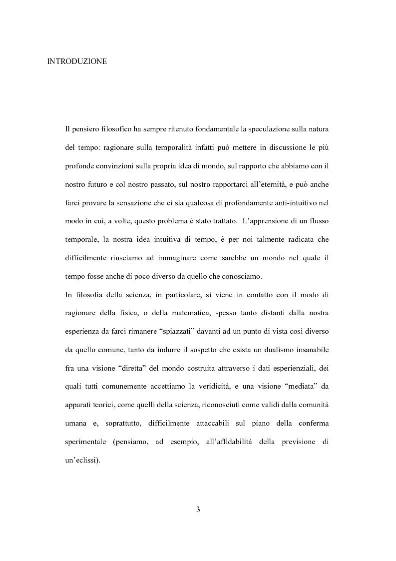 Anteprima della tesi: Il tempo nel confronto tra fisica ed esperienza, Pagina 1