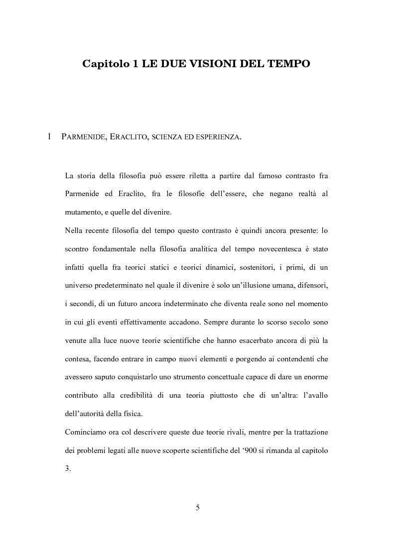 Anteprima della tesi: Il tempo nel confronto tra fisica ed esperienza, Pagina 3