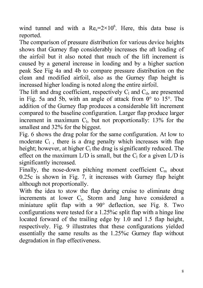 Anteprima della tesi: Gurney flaps in sailing, do they help?, Pagina 8