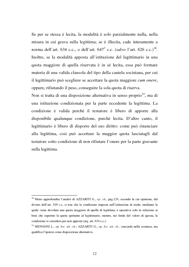Anteprima della tesi: Il legato gravante sulla legittima, Pagina 10