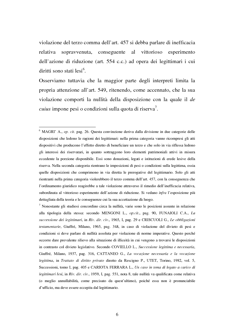 Anteprima della tesi: Il legato gravante sulla legittima, Pagina 4