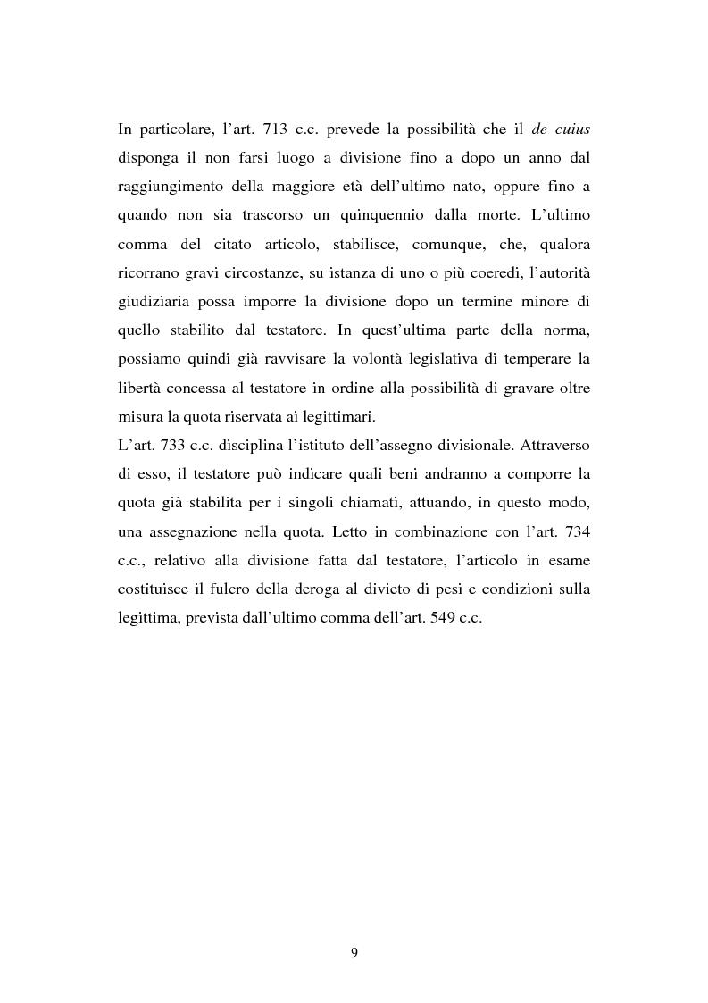 Anteprima della tesi: Il legato gravante sulla legittima, Pagina 7