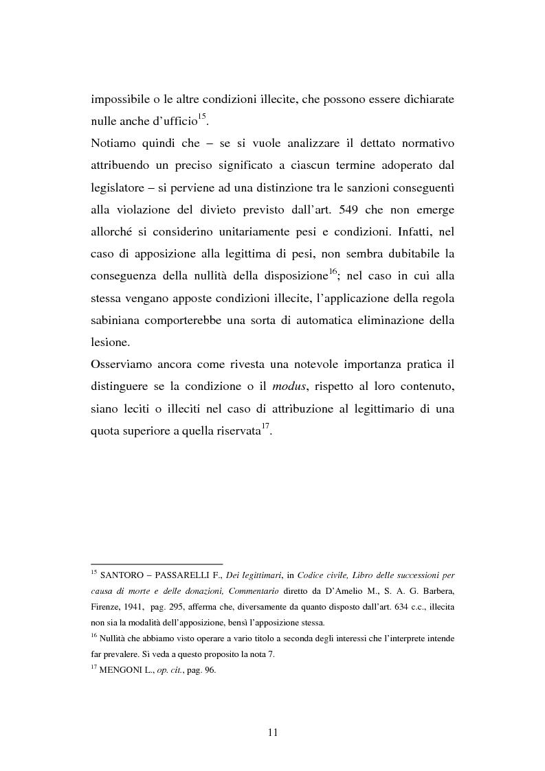 Anteprima della tesi: Il legato gravante sulla legittima, Pagina 9
