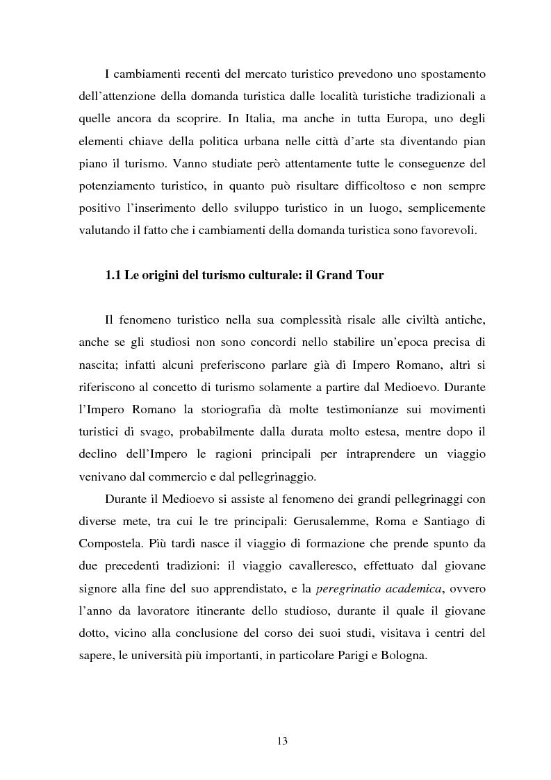 Anteprima della tesi: Il turismo culturale nelle città d'arte. Il caso di Trento, Pagina 10