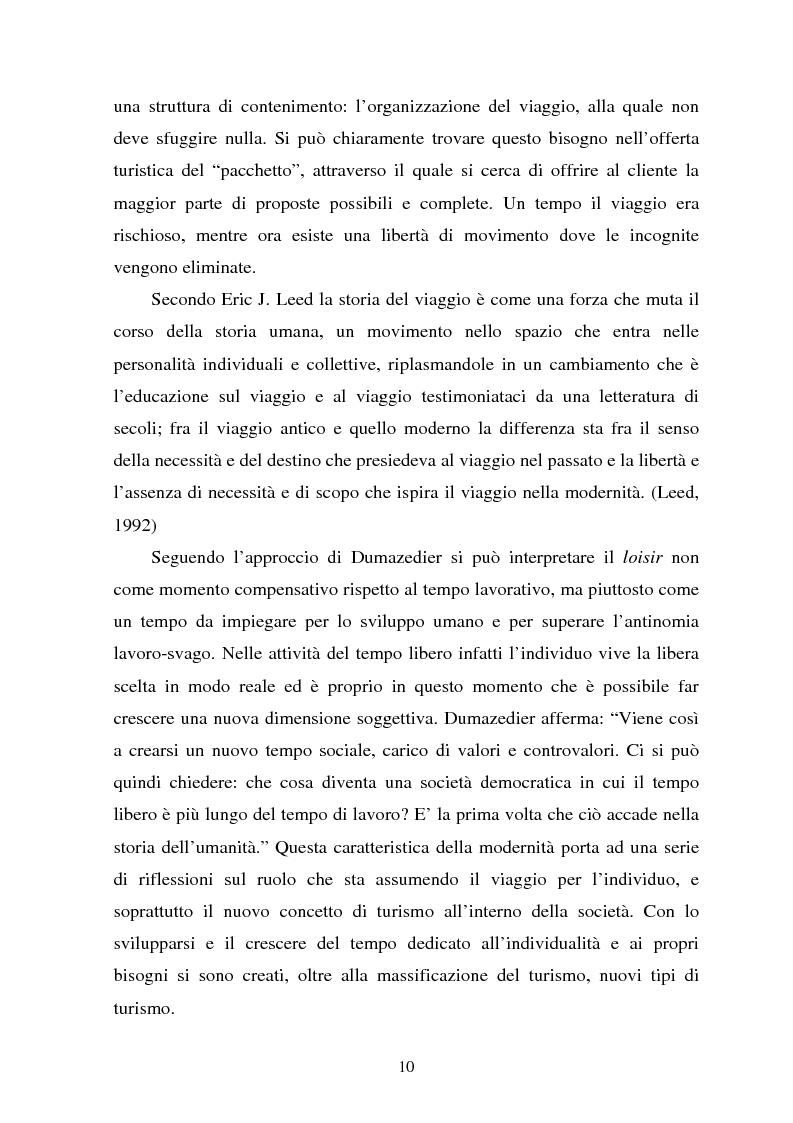 Anteprima della tesi: Il turismo culturale nelle città d'arte. Il caso di Trento, Pagina 7