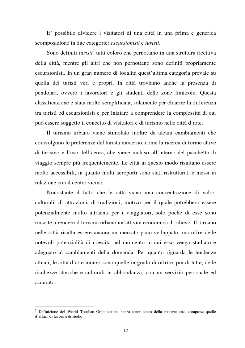 Anteprima della tesi: Il turismo culturale nelle città d'arte. Il caso di Trento, Pagina 9
