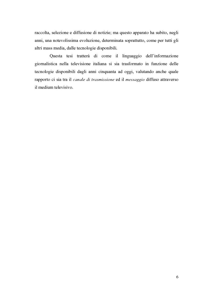 Anteprima della tesi: Cronaca e tecnologia Cinquant'anni di informazione televisiva in Italia, Pagina 4