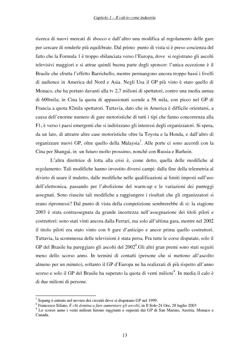 Anteprima della tesi: La finanza nelle società di calcio, Pagina 13