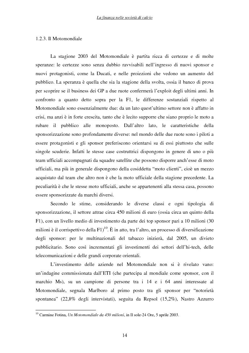 Anteprima della tesi: La finanza nelle società di calcio, Pagina 14