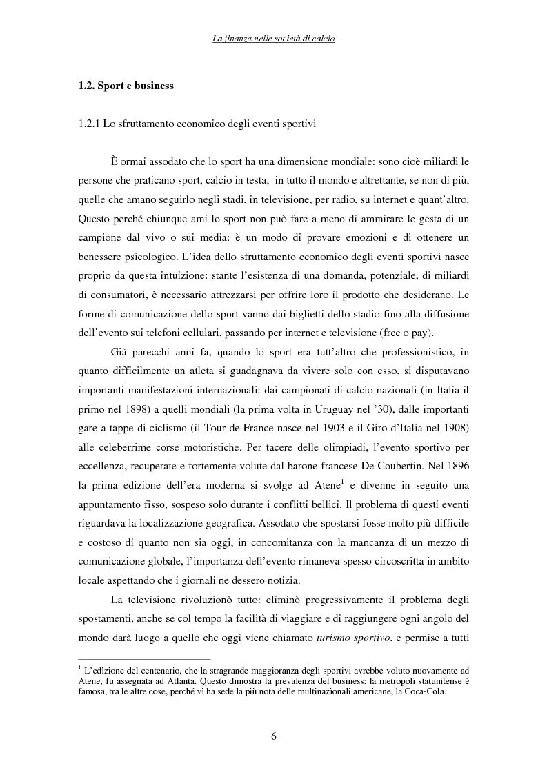 Anteprima della tesi: La finanza nelle società di calcio, Pagina 6
