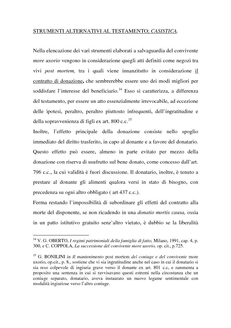 Anteprima della tesi: La tutela successoria del convivente more uxorio, Pagina 12
