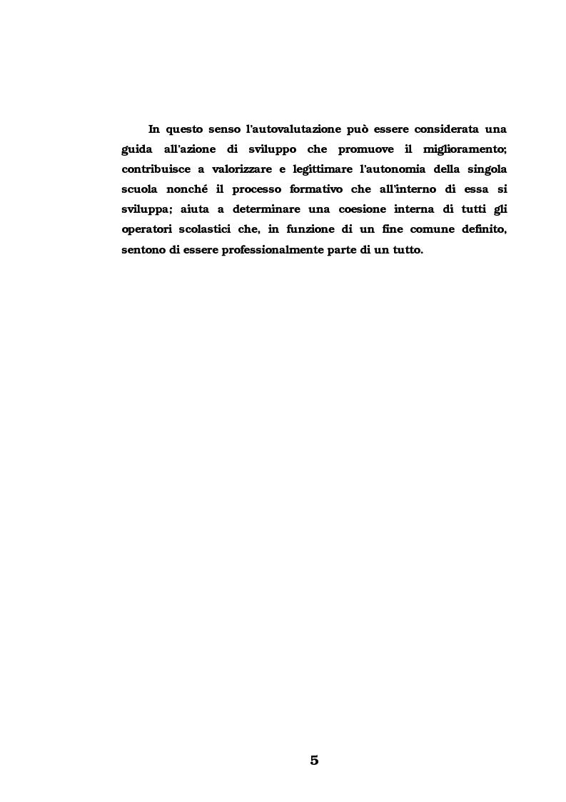 Anteprima della tesi: L'Autovalutazione d'Istituto, Pagina 5