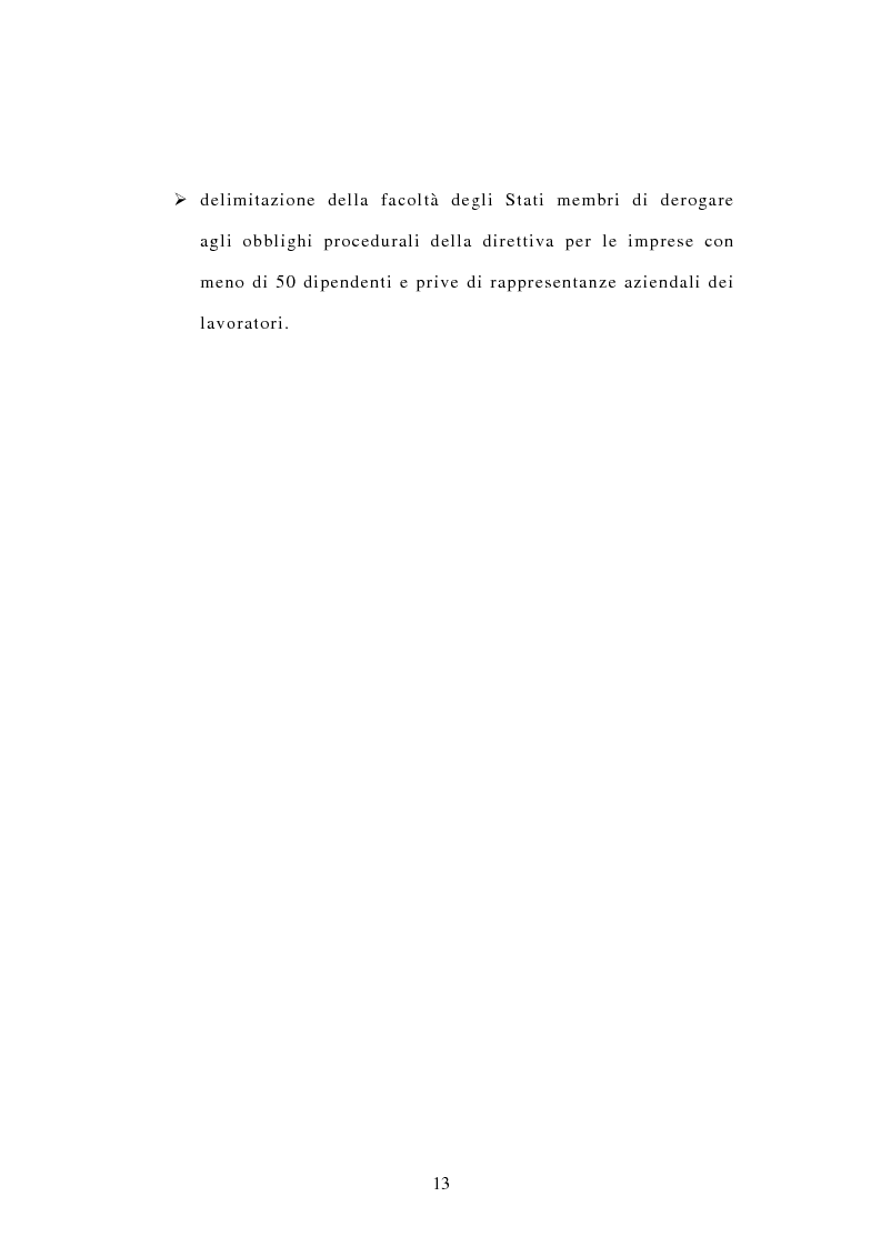 Anteprima della tesi: La tutela dei diritti dei lavoratori in caso di trasferimento d'azienda e di privatizzazione dei servizi pubblici locali, Pagina 11