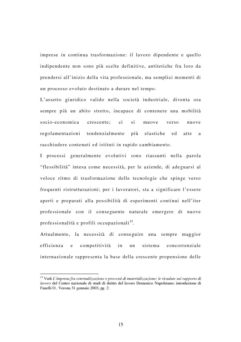 Anteprima della tesi: La tutela dei diritti dei lavoratori in caso di trasferimento d'azienda e di privatizzazione dei servizi pubblici locali, Pagina 13