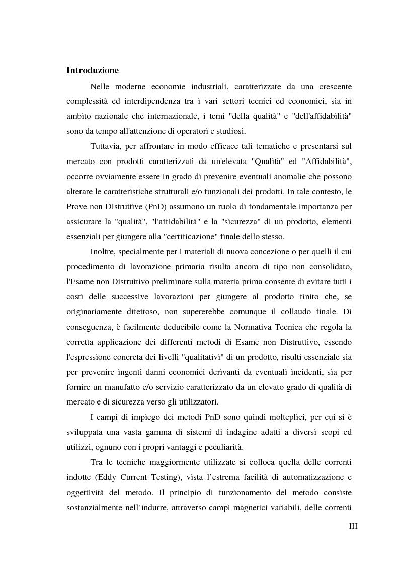 Anteprima della tesi: Realizzazione di un sistema tomografico per l'esecuzione di prove non distruttive su materiali conduttori, Pagina 1
