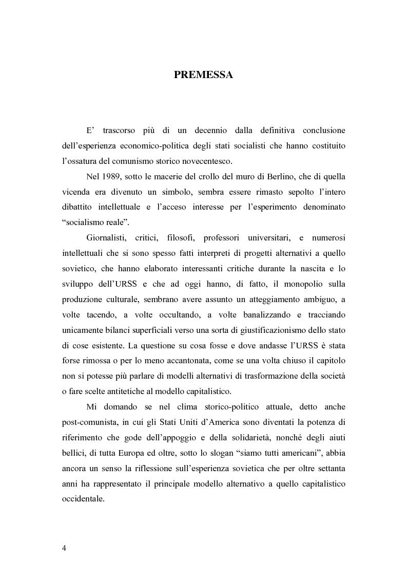 """Anteprima della tesi: Marx e il """"socialismo reale"""", Pagina 1"""