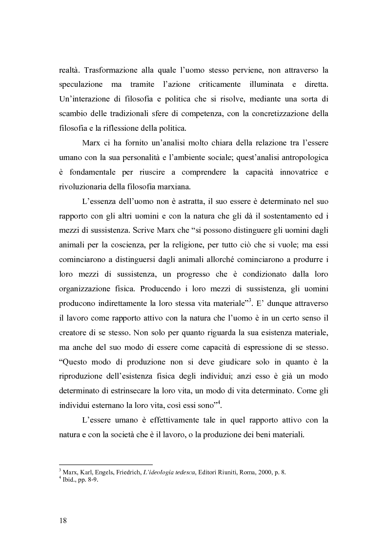 """Anteprima della tesi: Marx e il """"socialismo reale"""", Pagina 15"""
